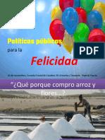 Políticas Públicas Para La Felicidad