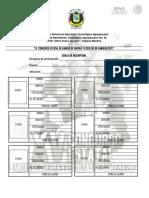 Cédulas de Inscripión