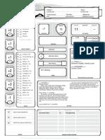 ejemplo de character sheet