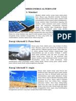 15 Sumber Energi Alternatif