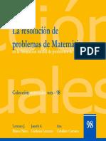 eBook La resolución de problemas de Matemáticas en la formación inicial de profesores de Primaria