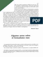 Algunas Notas Sobre El Formalismo Ruso