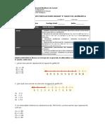 Prueba Matematicas 8 Ecuaciones Inecuaciones 2018