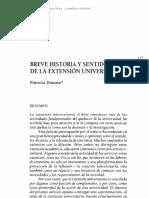 Donoso, BREVE HISTORIA Y SENTIDODE LA EXTENSIÓN UNIVERSITARIA.pdf
