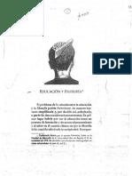 1 Educación Democrática (Cap Educación y Filosofía) - Zuleta