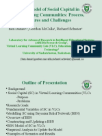 Bayesian Model of Social Capital in Virtual Learning Communities Process, Procedures and Challenges