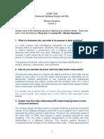 Review Questions Lesson 02 COMP 1630