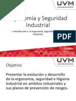 I. Introducción a La Ergonomía, Seguridad e Higiene Industrial
