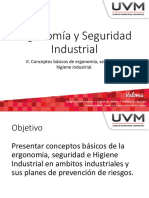 II. Conceptos Basicos de Ergonomía, Seguridad e Higiene Industrial