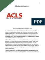 Kursus ACLS   08788 - 9699 - 789   Materi Kursus ACLS