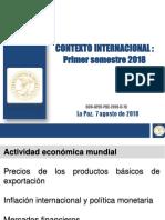 Ago 2018 Contexto Internacional I SEM