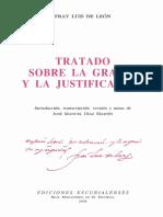 Tratado Sobre La Gracia y La Justificacion de Gratia Et Iustificatione