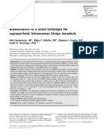 Biomechanics of a Novel Technique for Suprapectoral Intraosseous Biceps Tenodesis