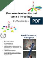 Proceso de Eleccion Del Tema a Investigar