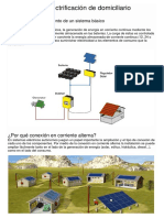 Esquema de Electrificación de Domiciliario solar