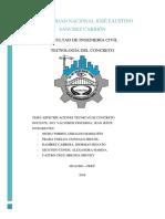 Esecificaciones Técnicas Del Concreto en El Expediente Técnico