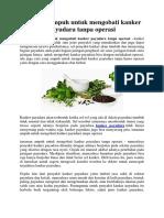 tanaman ampuh untuk mengobati kanker payudara tanpa operasi.docx