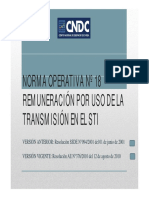 Modificaciones de Las Normas Operativas 18