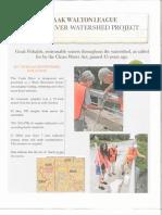 Izaak Walton League Cedar River Watershed report, February 2018