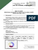 0 Analiza Evaluare Initiala 20112012 Scoala Nr. Clasa a Viia Cultura Civica