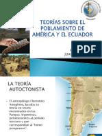 Poblamiento en América y Ecuador