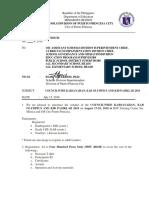Division Memorandum KABSAYAHAN