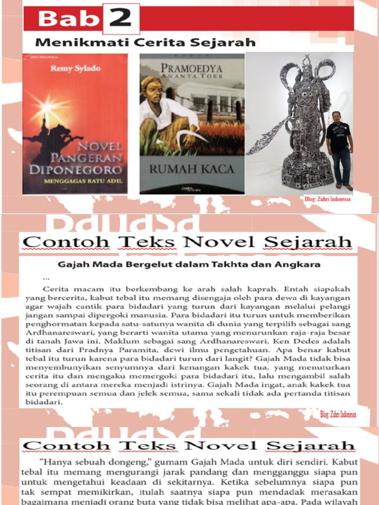 2 Ppt Teks Novel Sejarah Pptx