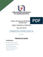 Practica 2.- Energia Especifica Rapida
