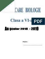 Planificari Biologie Clasa a VI a