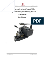 JC-1800-DTM Geomembrane Wedge Welder