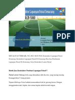 KUALITAS TERBAIK, WA 0821-8620-5040, Kontraktor Lapangan Futsal Semarang