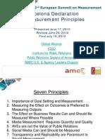 The Barcelona Principles for PR Measurement