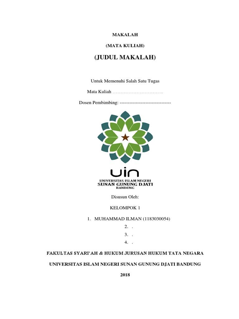 Cover Makalah Uin Bandung