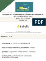 Etude Babelio Contenant Du Livre - Septembre 2018