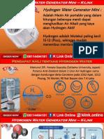 Hydrogen Water Generator Mini K Link Di Shopee WA 08114494181