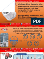 Harga Mesin Air Hydrogen K Link 2019 WA 08114494181