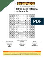 Sopa de Letras de La Reforma Protestante