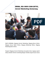 PASTI DITERIMA, WA 0895-3388-28755, Magang Internet Marketing Semarang