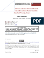 Relationship Between Chronic Illness on School Going Children and Academic Achievement in Ainabkoi County Kenya