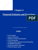 Chapter 6 Financial Estimates and Projections