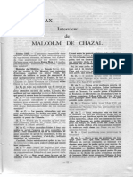 Entrevista Malcom de Chazal  - Revista Medium