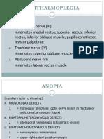 optalmoplegia