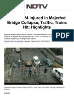 Majerhat Bridge Collapse in West Bengal..