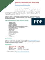 Mechatronics and Applications an International Journal MECHATROJ