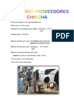 CALCULANDO PROVEEDORES CHINCHA