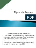 Tipos de Serviço