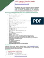 International Journal of Microwave Engineering (JMICRO)
