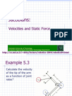Jacobian and Static Force