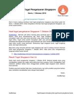 Hasil Togel Pengeluaran Singapore 1 Oktober - Hasilbertapa