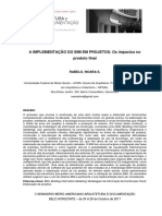 Artigo - A Implementação Do BIM Em Projetos Os Impactos No Produto Final